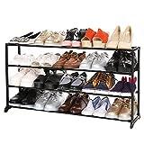 BATHWA Schuhregal Schuhschrank mit 4 Ablagen für bis zu 20