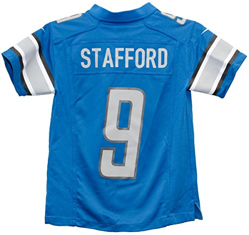 Nike Mathew Stafford Detroit Lions Game Blue Youth Jersey (Youth Size)