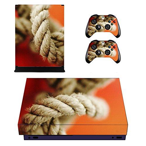 aut Aufkleber, Schutz Vinyl Aufkleber Haut Aufkleber für Xbox One X Konsole + 2 Controller Skins + 2 x Silikon Daumen Griffe (Farbe 21) ()