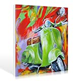 Leinwandbild Pasquale Colle - Vespa I - 70 x 70cm - Premiumqualität - Modern, Technik, Roller, Motorroller, Italien, Fortbewegung, Wohnzimmer, Ju.. - MADE IN GERMANY - ART-GALERIE-SHOPde