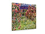 Claude Monet - Haus in den Rosen - 60x60 cm - Leinwandbild auf Keilrahmen - Wand-Bild - Kunst, Gemälde, Foto, Bild auf Leinwand - Alte Meister/Museum