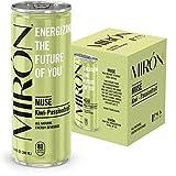 Mirón Fuji Kiwi Passionsfrucht natürlicher Energy Drink mit Kohlensäure 8.4 Fl.Oz. Dosen (0.25 L) (4er Pack)