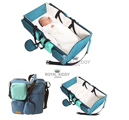 Royal Kiddy Londres 3 En 1 Pliable Pour B B Sac De Voyage Comme Sac Langer Sac Couches Sac Nursery Couffin Bleu Turquoise