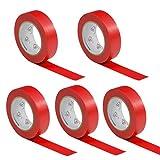 5 Rollen VDE Isolierband Isoband Elektriker Klebeband PVC 15mm x 10m DIN EN 60454-3-1 Farbe: rot