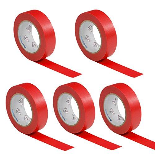 band Isoband Elektriker Klebeband PVC 15mm x 10m DIN EN 60454-3-1 Farbe: rot ()