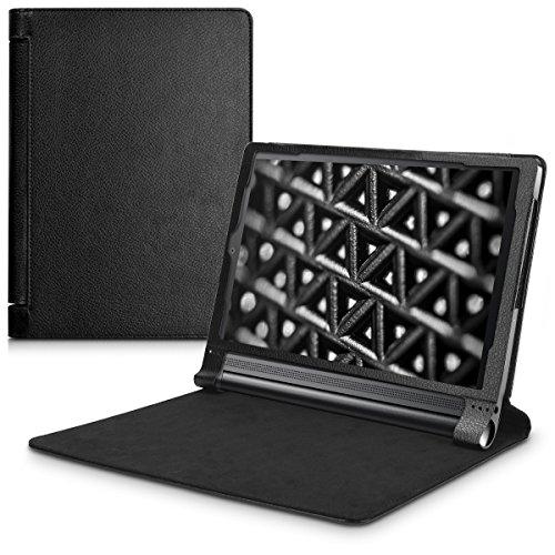 kwmobile Funda para Lenovo Yoga Tab 3 Plus - Carcasa plegable de [cuero sintético] para tablet con [cierre magnético] y [soporte]