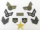 Super Aktion! Military Army Patch Sticker 10 Stück Aufbügler Aufnäher Kleidung Patch