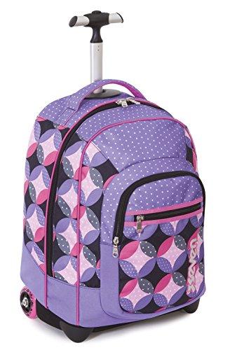 TROLLEY FIT - SEVEN - BUNNY -2en1 Sac à dos à roulettes avec bretelles escamotable - violet 35Lt