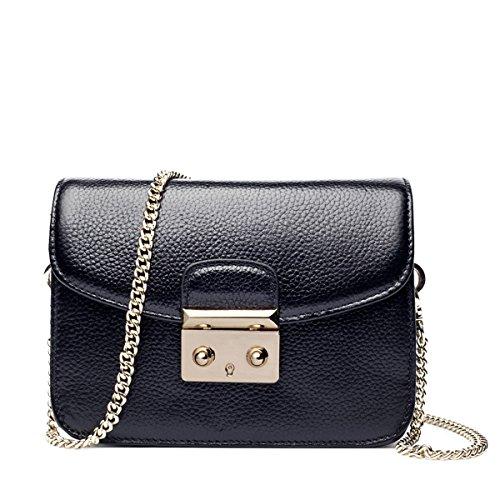 WU Zhi Lady In Pelle Piccola Borsa Quadrata Spalla Messenger Bag Black