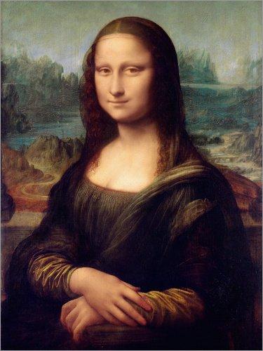 Poster 30 x 40 cm: Mona Lisa von Leonardo da Vinci - Hochwertiger Kunstdruck, Kunstposter