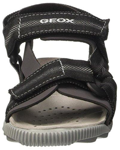 Geox Storm B, Sandales Bout Ouvert Garçon Gris (Greyc1006)
