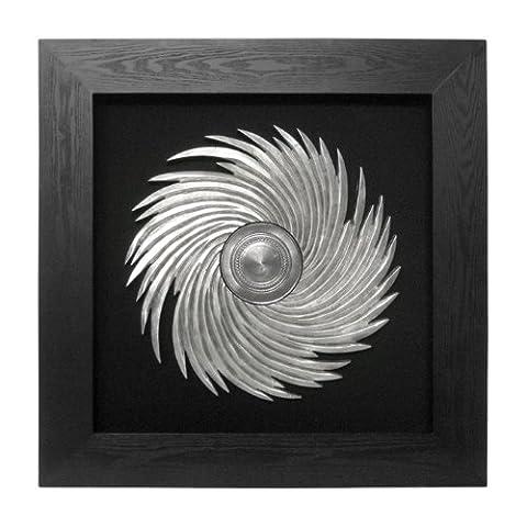 Premier Housewares Swirl Wall Art with Black Frame, 80 x