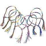 SODIAL(R) 9 Stk. Bunte Handmade Geflochtene Thema Freundschaftsbaender Knoechel-Armband Hippie (zufaellige Farbe)
