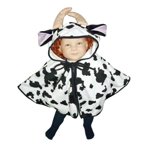 Ikumaal Kuh-Kostüm, J55 Gr. 74-98, als Umhang für Klein-Kinder, Babies, Kuh-Kostüme Kühe Fasching Karneval, Kleinkinder-Karnevalskostüme, Faschingskostüme, Geburtstags-Geschenk