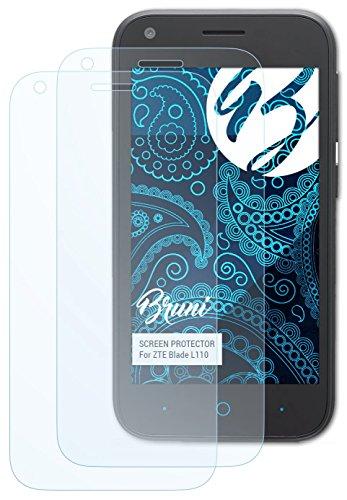 Bruni ZTE Blade L110 Folie - 2 x glasklare Displayschutzfolie Schutzfolie