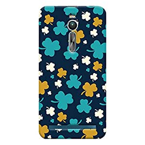 ColourCrust Asus Zenfone 2 ZE550ML Mobile Phone Back Cover With Floral Pattern - Durable Matte Finish Hard Plastic Slim Case