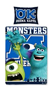 Completo copripiumino singolo reversibile Monster University