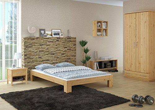 Erst-Holz Elegante Futon Matrimoniale 140x200 in Pino Eco Laccato con doghe rigide 60.67-14