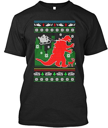 amen / Herren / Unisex von Teespring | Originelles Outfit für jeden Anlass und lustige Geschenksidee - GODZILLA - SANTAS NEW HELPER (Santa ' S Helper Outfit)