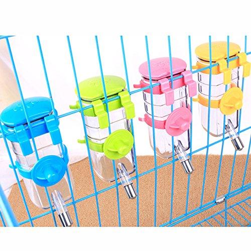 Hunde Trinkflasche Auto Hunde Wasserflasche Reiseflasche Hund Hängende an der Wand Hängen im Käfig Unter Dem Tisch für Haustier 350 ML Blau
