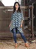 #4: Jaipur Textile Hub Designer Block Print Half Sleeve Round Neck Cotton Kurti Dress For Women MNB-34