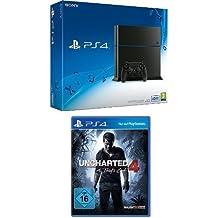 PlayStation 4 - Konsole (500GB, schwarz) [CUH-1216A] + Uncharted 4: A Thief's End