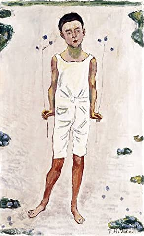 Alu Dibond 60 x 100 cm: Charmed boy by Ferdinand Hodler / Bridgeman Images