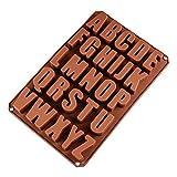 26 Lettres Anglaises Chocolat Silicone Moules, Moules à Savon, Moules en Silicone pour la Cuisine, Moules en Silicone pour Chocolat, Glaçons, Biscuits, Gâteaux