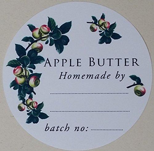 Apple Butter Canning Etiketten-5,1cm rund-36/Pkg -