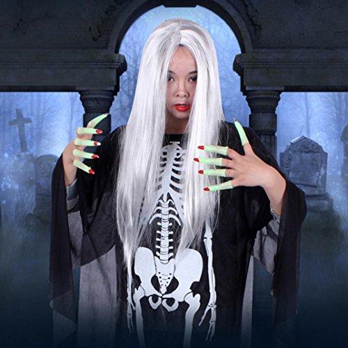 Bescita Happy Halloween Party Haar Haushalt Künstliche Raum Dekor Terror Perücke Lieferungen (Halloween Frisur Happy)