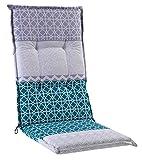 Sesselauflage Sitzpolster Gartenstuhlauflage für Hochlehner BACH1