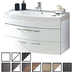 Waschtisch Belum Weiß (Waschbecken Mit Waschbeckenunterschrank) Breite Ca. 100  Cm, Für Gäste