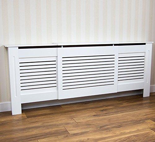 Home discount milton radiatore copertura regolabile armadietto moderno a doghe grill a doghe in legno mdf laccato bianco