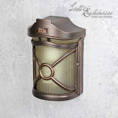 Wandleuchte außen/antik braun/Wandlampe antik/Lampe Außenbereich IP44 / E27 230V / Garten Lampe...