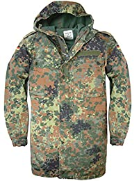 Genuine German Army Flecktarn Zip fronted Combat Field Jacket With Hood Unissued Army Jacket