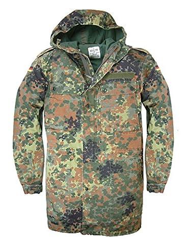 Authentique armée allemande Flecktarn fermeture Éclair devant avec capuche champ
