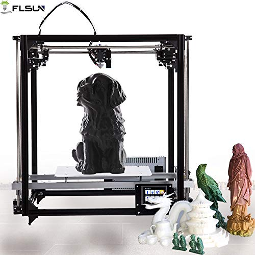 FLSUN 3d Drucker Cube DIY Kit Touch Screen Auto Nivellierung 3d Printer Größe 260X260X350 mit Auto Level beheizte Bett Präzision (Touchscreen) -