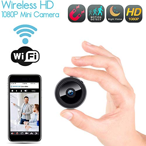 Mini Kamera Wireless Kleine WIFI Sicherheit Überwachung Nanny Cam mit integrierter Bewegungserkennung & Nachtsichtfunktion - Funktioniert mit iPhone Android Telefon iPad - Funktioniert mit SD-Karten bis zu 128 GB (nicht im Lieferumfang enthalten) ** EXTENDED 60 Tage Garantie ** 24/7 Kunden Bedienung