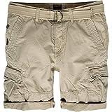 PME Legend beige Canvas Shorts mit gürtel Größe W29