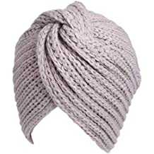 Amorar Gorro de Punto Beanie Women Chemo Hat Slouch musulmán Turbante Turban para la pérdida de