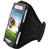 Prima Mejor Malla Negro Running cubierta de la caja del brazal para i9500 Samsung Galaxy S4 SIV