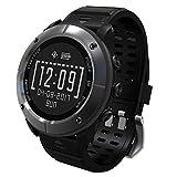 UWEAR GPS de senderismo inteligente Watch,100% impermeable Reloj deportivo para exteriores,Más de 10 modos de deporte,Senderismo y Trail Running Smartwatch con monitor de frecuencia cardíaca / SOS / Compass / Tiempo / Reloj barómetro y altímetro (Gris de hierro)