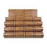 DHG Stroh und Tapete Stil Japanische Tatami Schlafzimmer Studie Chinesische Restaurant Simulation Bambus Tapete,A,5,3 Quadratmeter Pro Rolle