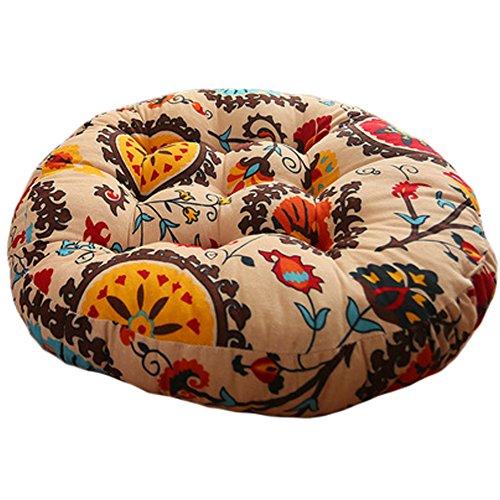 Dekorative Sonnenblumen-kissen (Qualit?t Runde Stuhlkissen Bodenkissen Sitzkissen Kissen, Sonnenblume)