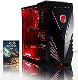 VIBOX ScorpiusPC Gaming avec jeu War Thunder, 4GHz AMD FX Quad Core Processeur, Nvidia GeForce GTX 750 Ticarte graphique, 1To HDD, 8Go RAM, case commande, Rouge fluo