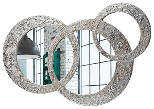 Pintdecor, Circles - Pequeño Espejo, MDF/Cristal