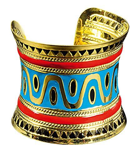 narrenkiste K83250040-10-A türkis-goldfarbig Damen Armspange Ägyptischer Schmuck (Gottes Krieger Kostüm)