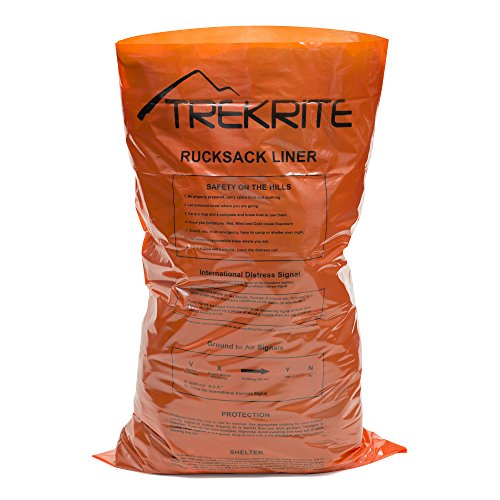 Trekrite Waterproof Rucksack Liner - Hi Vis Orange