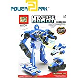 Powerpak Legao Model Universe Robot - Shield - Building Blocks 3D Puzzle Educational Toy For Ages 6+ (100 Pieces) - Assemble Them Into Robots, Cars, Planes, And Other Different Models