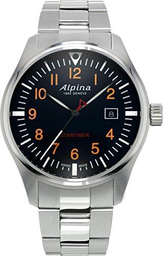 Alpina Geneve Startimer Pilot AL-240N4S6B Reloj de Pulsera para hombres Legibilidad Excelente